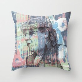 BRIAN JOHNSON - BOOGIE MAN Throw Pillow
