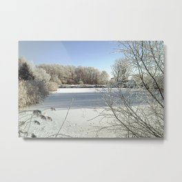 Winter in the Netherlands. Metal Print