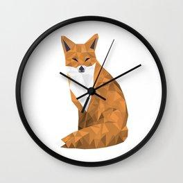 Lowpoly Fox - HD Wall Clock