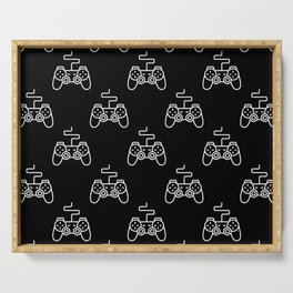Video Game Gamepad Pattern Serving Tray