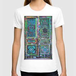 French Painted Colorful Paris Doorway Photograph T-shirt