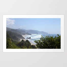 arcadia beach from ecola site park Art Print