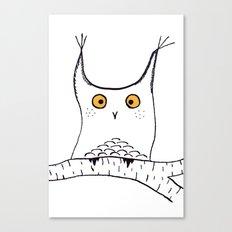 Squarish Owl Canvas Print