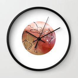 Sagittarius horoscope symbol constellation Wall Clock