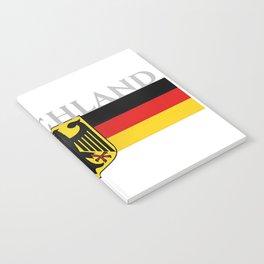 Deutschland ...German Flag and Eagle Notebook