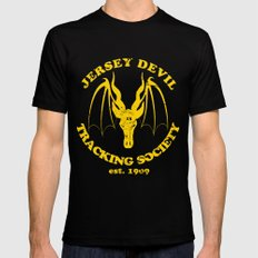 Jersey Devil Tracking Society Mens Fitted Tee Black X-LARGE