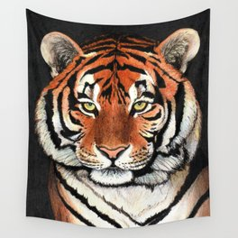 Tiger portrait drawing Wall Tapestry
