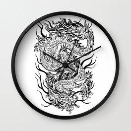 Japanese Dragon Wall Clock
