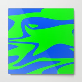 Wild: Blue and Green Metal Print