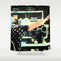 tyler durden Shower Curtains featuring What Would Tyler Durden Do by Jay Joseph