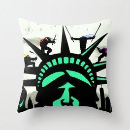 Turtles White Throw Pillow
