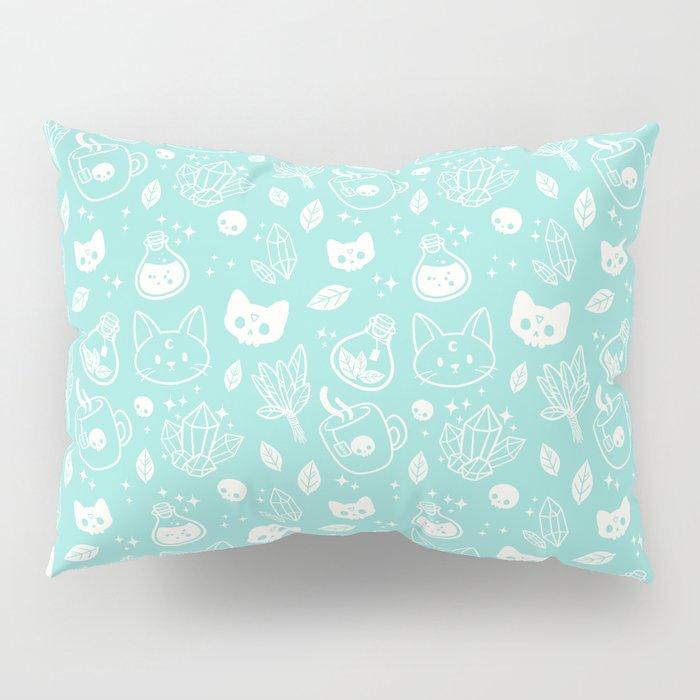 Herb Witch // Green Pastel Pillow Sham