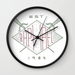 Raphael TMNT Wall Clock