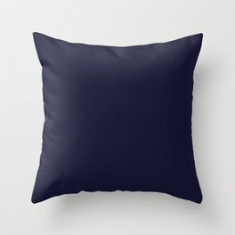 Color for Devotion Twilight(#141431- space cadet) Throw Pillow