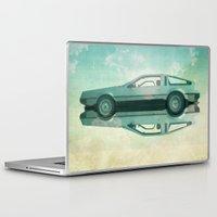 delorean Laptop & iPad Skins featuring Siamese  Delorean by Vin Zzep