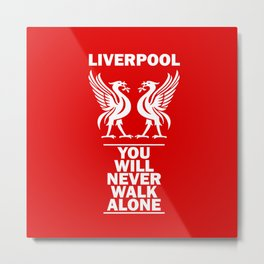 Slogan: Liverpool Metal Print