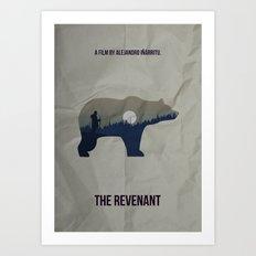 The Revenant Vector Portrait Art Print