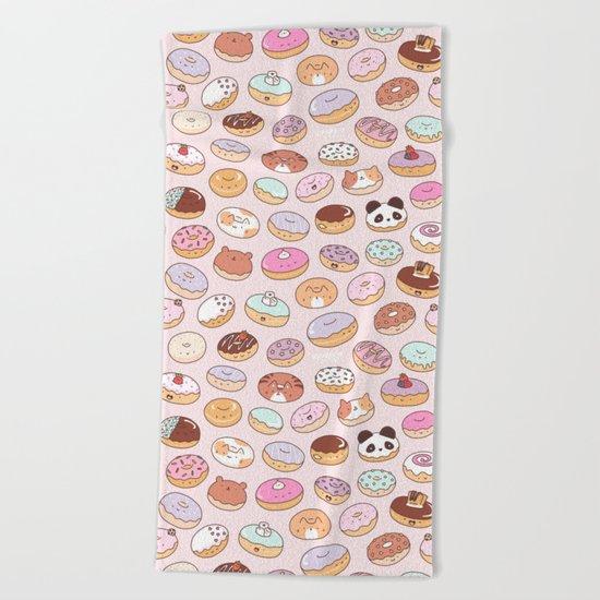 Mmm... Donuts! Beach Towel
