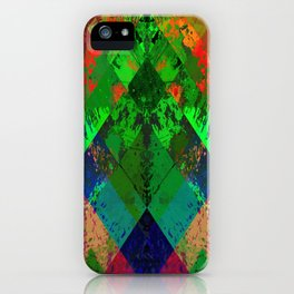 Beauty In Symmetry - Abstract, geometric, textured, symmetrical artwork iPhone Case