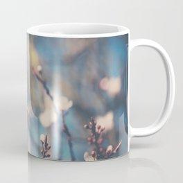 white apple blossom flowers on a beautiful spring day! Coffee Mug