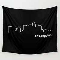 los angeles Wall Tapestries featuring Los Angeles by Fabian Bross