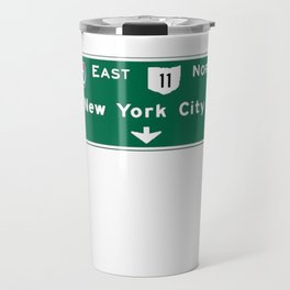 New York City Interstate 80 Sign Travel Mug