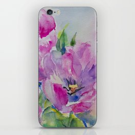 Watercolor Tulip iPhone Skin