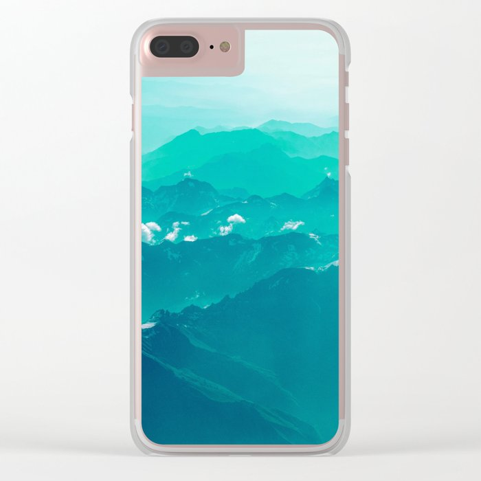 Mountain Waves Clear iPhone Case