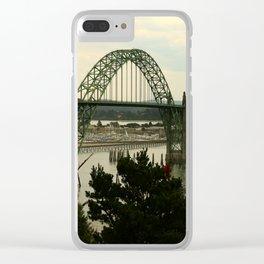 Yaquina Bay Bridge Clear iPhone Case