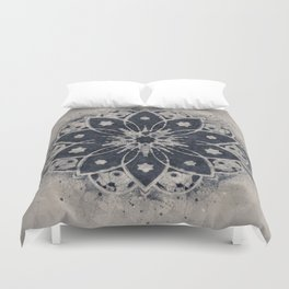 MANDALA BLUE BOHEMIAN GEOMETRIC ABSTRACT Duvet Cover