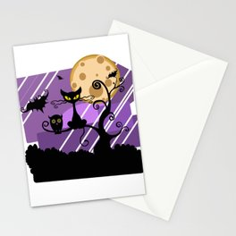 Scary Witch Cat Stationery Cards