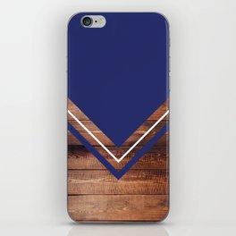 Navy & Wood iPhone Skin
