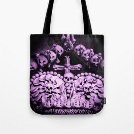 Santa Muerte Crown Tote Bag