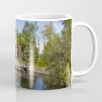 michigan Mugs featuring Michigan Cottage by davehare