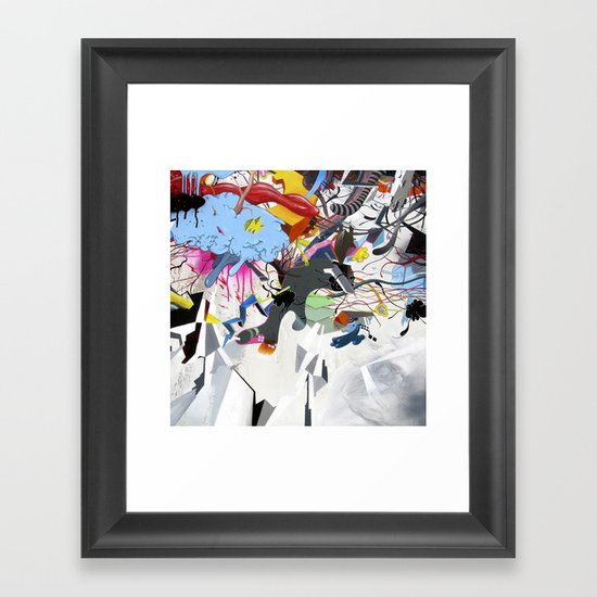 I blame the radio waves Framed Art Print