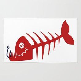 Pirate Bad Fish red- pezcado Rug