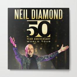 neil diamond new tour dates 2018 / 2019 semangat Metal Print