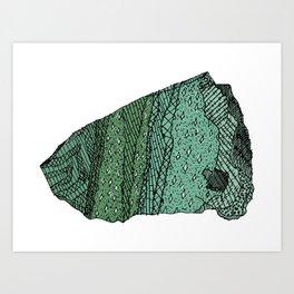 Fuchsitic Quartzite Art Print
