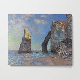 Claude Monet - The Cliffs at Etretat Metal Print