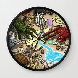 Ouija Monster! Wall Clock