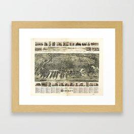 City of Hoboken, New Jersey (1904) Framed Art Print