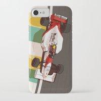 senna iPhone & iPod Cases featuring Senna by Bruno Gabrielli