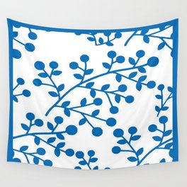 Blueberry Fields Forever - White Edition Wall Tapestry