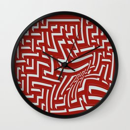 Devastated maze Wall Clock