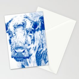 Ardnamuchan Coo - Blue Stationery Cards