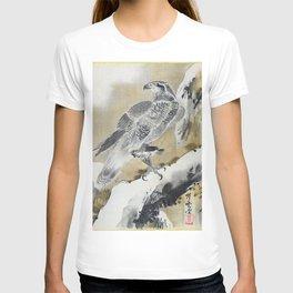 12,000pixel-500dpi - Kawanabe Kyosai - Eagle Holding Small Bird - Digital Remastered Edition T-shirt