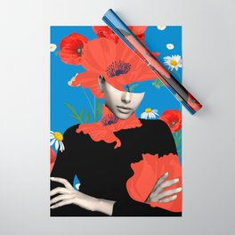 Poppy / Floral Portrait Wrapping Paper