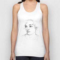 boy Tank Tops featuring Boy  by Laura O'Connor
