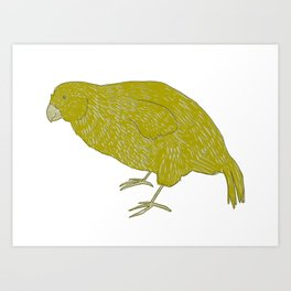 Kakapo Says Hello! Art Print