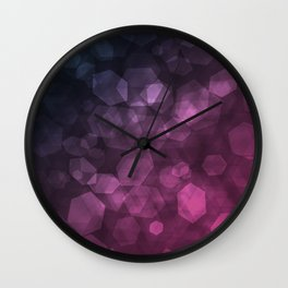 Purple blue abstract pattern . Wall Clock
